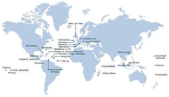 Оффшорные зоны мира