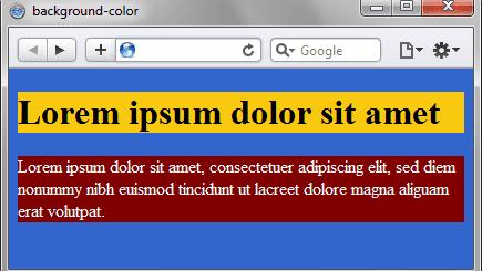 Цвет текста и цвет фона в CSS
